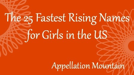 Fastest Rising Names for Girls in the US
