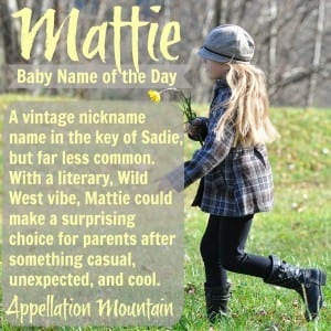 Mattie: Baby Name of the Day