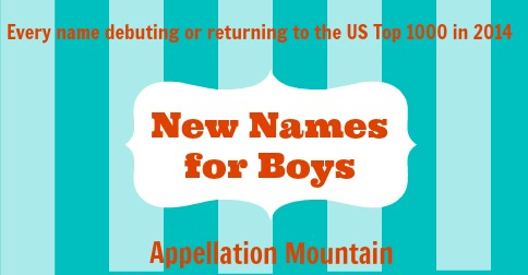 New Names for Boys 2014