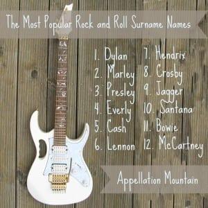 Rock star surname names