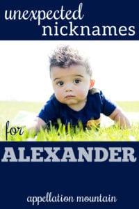 Alexander nicknames