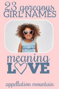 girl names meaning love