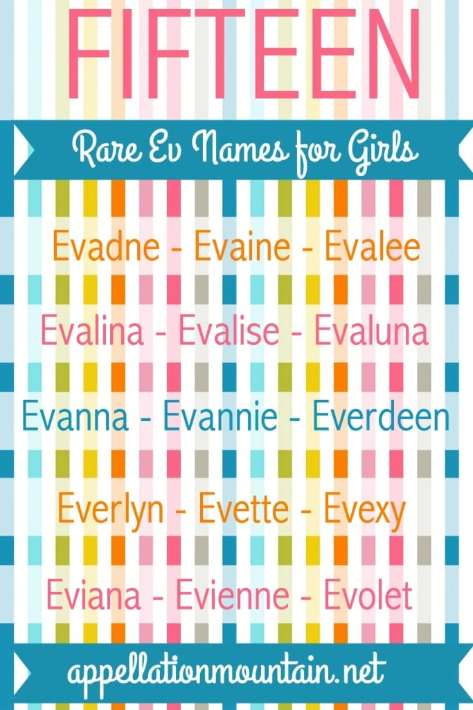 Rare Ev names for girls