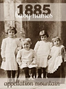 1885 baby names
