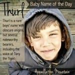 Thurl: Baby Name of the Day