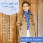 Twelve Tailored Names for Girls