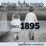 Rare 1895 Baby Names