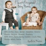 F Scott Fitzgerald Baby Names: Jordan and Blaine