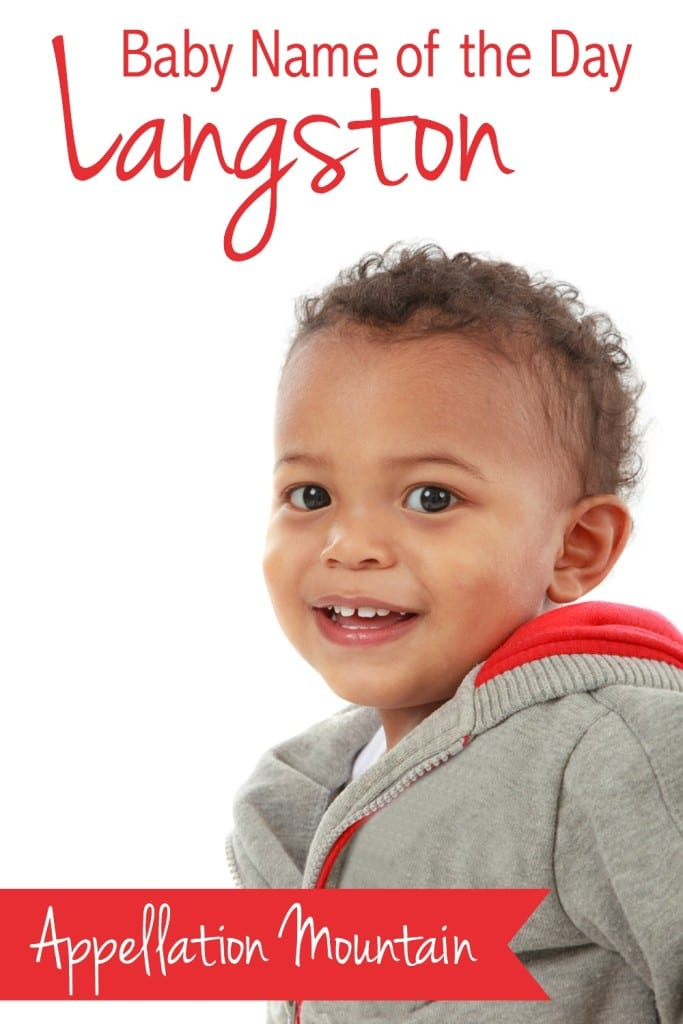 Langston: Baby Name of the Day