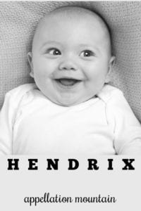 boy name Hendrix