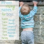 13 Best Rising Boy Names 2016