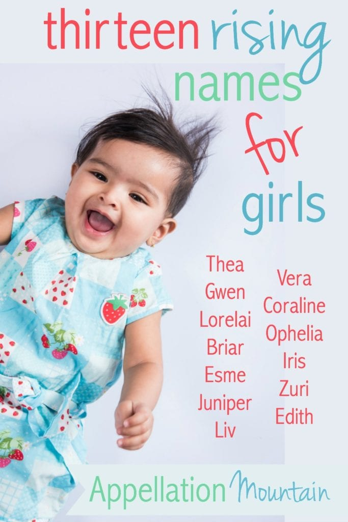 13 rising girl names 2016