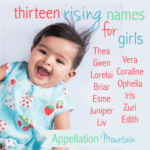 13 Best Rising Girl Names 2016