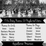 1910s Baby Names: Twenty Neglected Gems