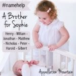 Name Help: A Brother for Sophie
