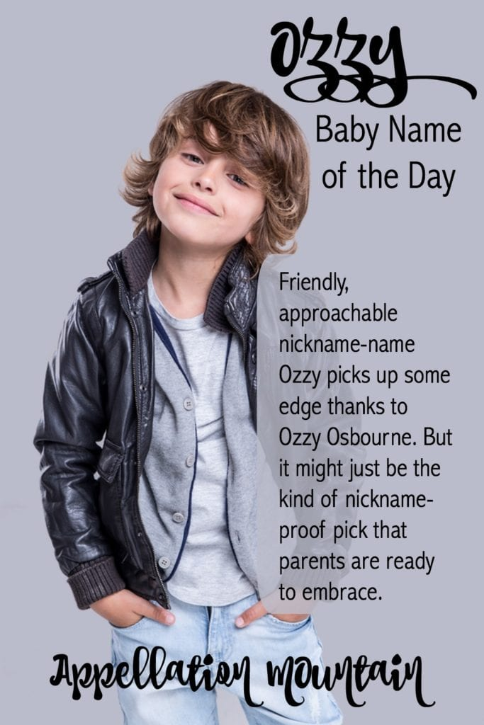 Ozzy: Baby Name of the Day
