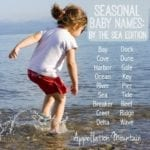 Seasonal Baby Names: By the Sea Edition