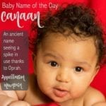 Canaan: Baby Name of the Day