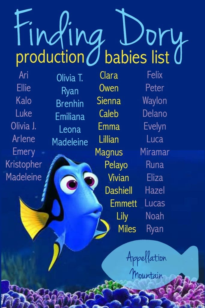 finding dory production babies june 2016 appellation