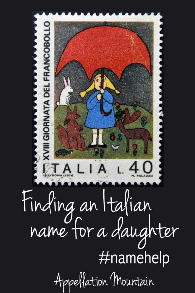 NH Italian girl names