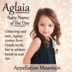 Aglaia: Baby Name of the Day