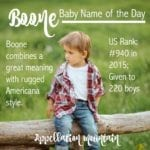 Boone: Baby Name of the Day
