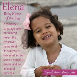 Elena: Baby Name of the Day