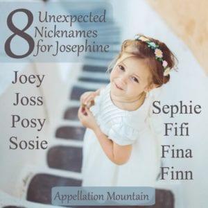 Unexpected Josephine nicknames