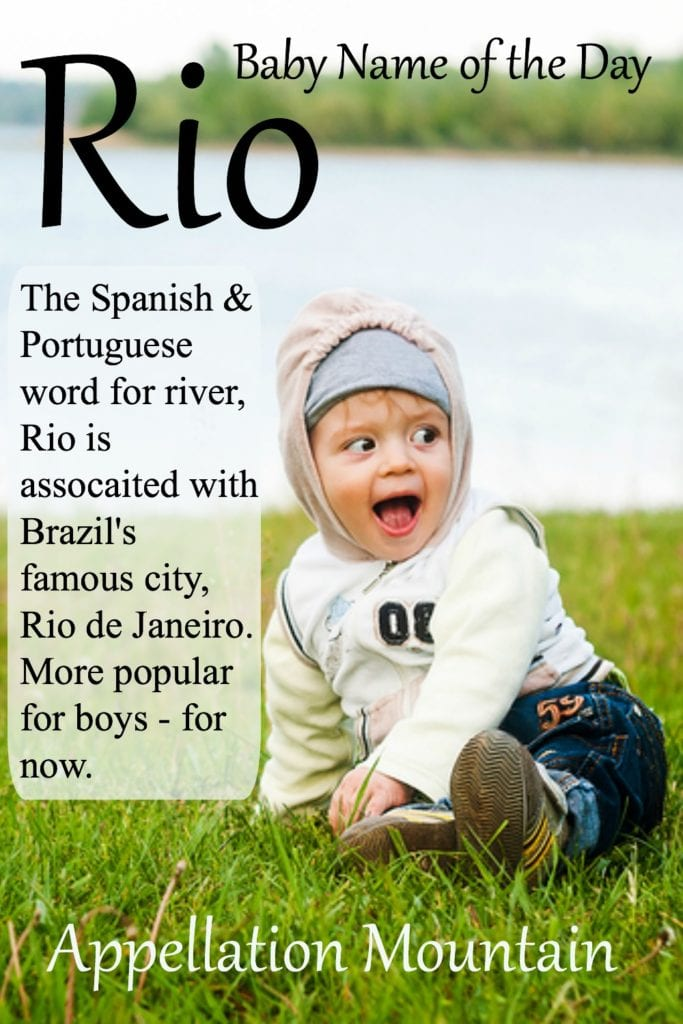 Rio: Baby Name of the Day