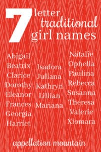 7 letter traditional girl names