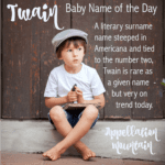Twain: Baby Name of the Day