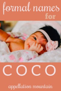 formal names for Coco