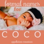 Formal Names for Coco: Consuelo and Colette