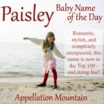 Paisley: Baby Name of the Day