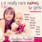 12 Rare Girl Names