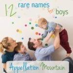 12 Rare Boy Names