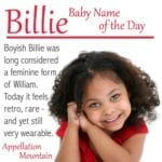 Billie: Baby Name of the Day
