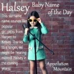 Halsey: Baby Name of the Day