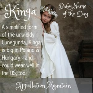 Kinga: Baby Name of the Day