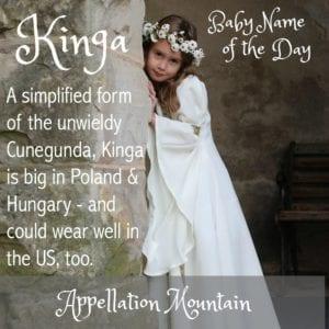 Kinga: Baby Name of the Day