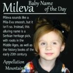 Mileva: Baby Name of the Day