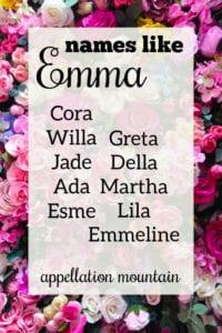 names like Emma