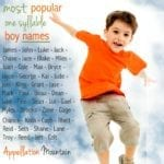 Most Popular One Syllable Boy Names, Part One