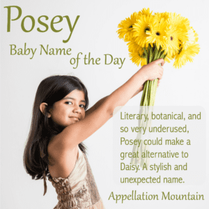 Posey: Baby Name of the Day