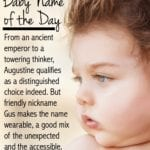 Augustine: Baby Name of the Day