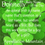 Donnelly: Baby Name of the Day