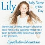 Lily: Baby Name of the Day