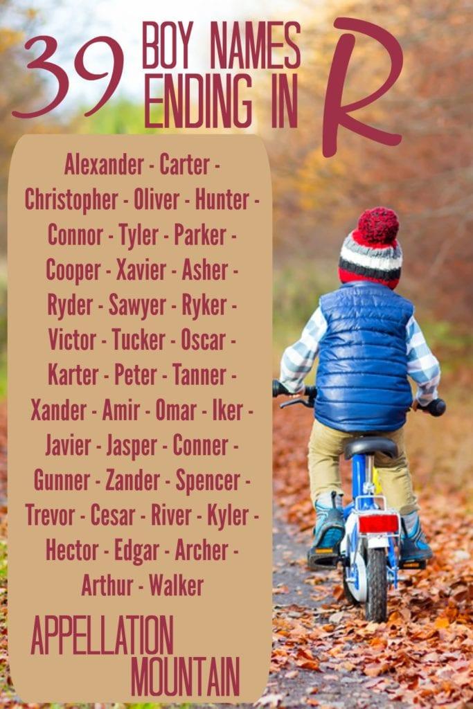 39 Boy Names Ending in R