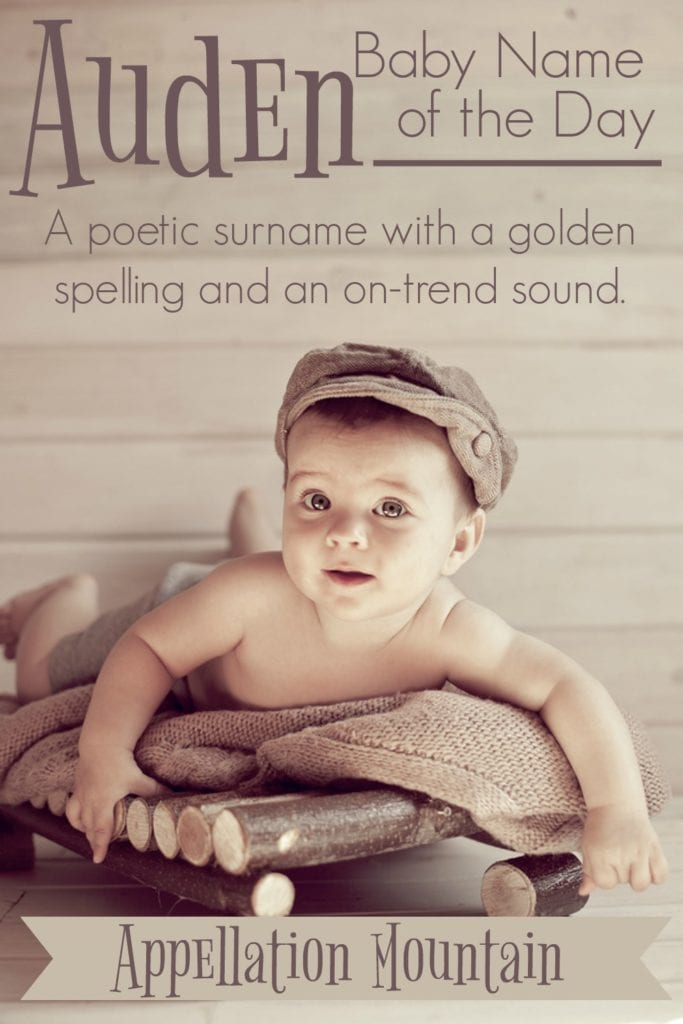 Auden: Baby Name of the Day