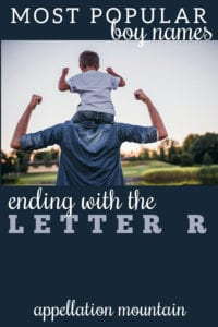 boy names ending with R